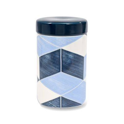 "Lenox and Luca Andrisani ""Blue Azzurro"" Porcelain Canister, , default"
