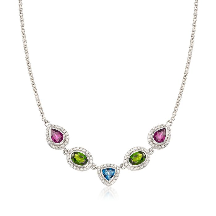 5.00 ct. t.w. Multi-Stone Necklace in Sterling Silver, , default