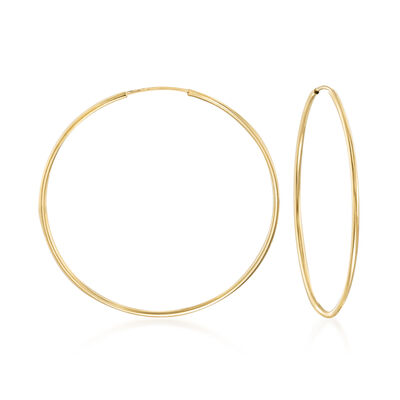 1.25mm 14kt Yellow Gold Endless Hoop Earrings