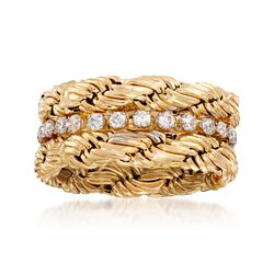 .65 ct. t.w. CZ Twist Eternity Band in 14kt Yellow Gold, , default
