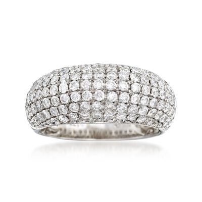 C. 1990 Vintage 1.77 ct. t.w. Pave Diamond Ring in 18kt White Gold, , default