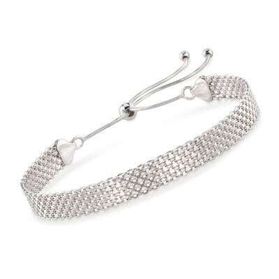 Sterling Silver Bismark-Link Bolo Bracelet