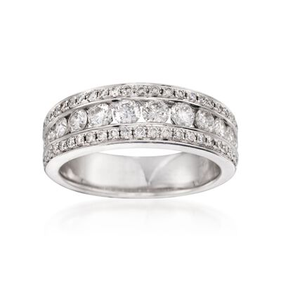 1.05 ct. t.w. Diamond Band in 14kt White Gold, , default
