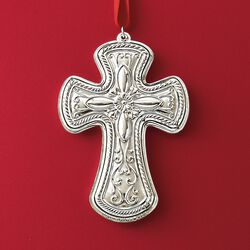 Towle 2018 Annual Sterling Silver Cross Ornament - 26th Edition, , default