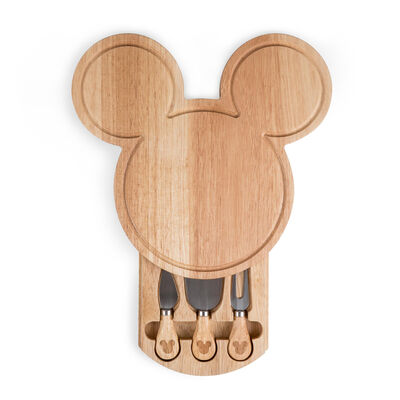 Mickey Mouse Head-Shaped Cheese Board with Set of 3 Tools