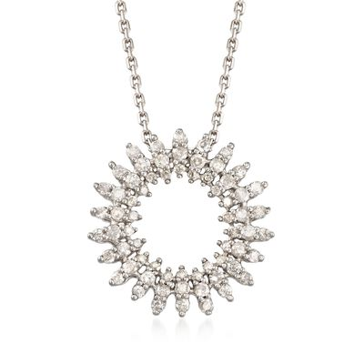 .50 ct. t.w. Diamond Open Circle Pendant Necklace in Sterling Silver, , default