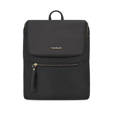 "Anti-Theft ""Addison"" Black Backpack"
