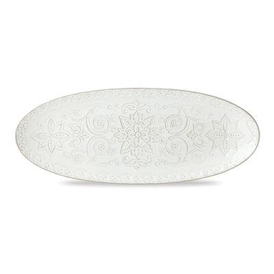 "Lenox ""Global Tapestry"" White Porcelain Oval Serving Platter, , default"