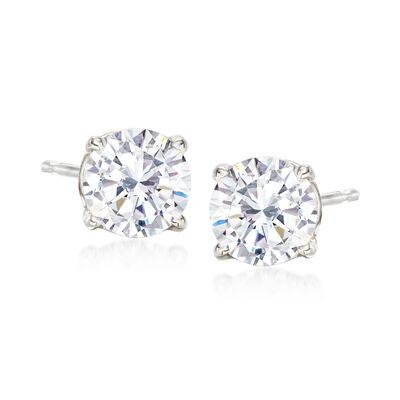 1.50 ct. t.w. CZ Stud Earrings in Sterling Silver, , default