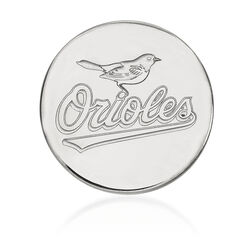 Sterling Silver Mlb Baltimore Orioles Lapel Pin, , default