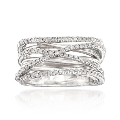 .50 ct. t.w. Diamond Highway Ring in Sterling Silver, , default