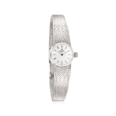 C. 1960 Vintage Omega De Ville Women's 17mm 14kt White Gold Watch, , default