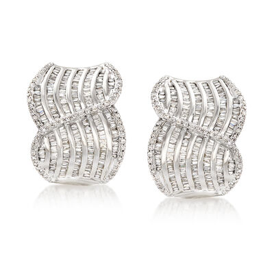 2.00 ct. t.w. Diamond Swirl Drop Earrings