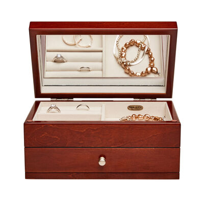 "Mele & Co. ""Brynn"" Walnut Wood Florentine Marquetry Jewelry Box, , default"