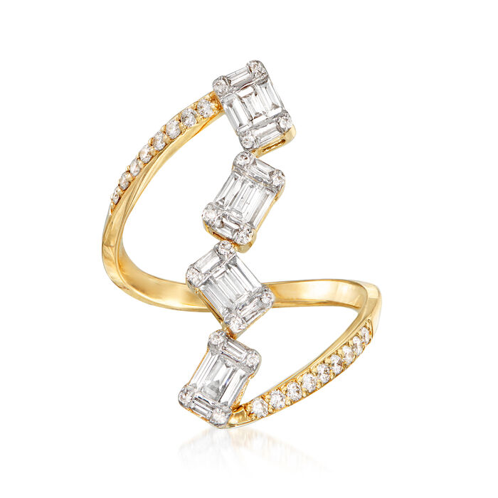 .75 ct. t.w. Diamond Cluster Ring in 14kt Yellow Gold. Size 8, , default