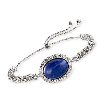 Lapis Byzantine Bolo Bracelet in Sterling Silver