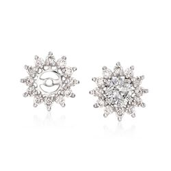 .31 ct. t.w. Diamond Earring Jackets in 14kt White Gold, , default