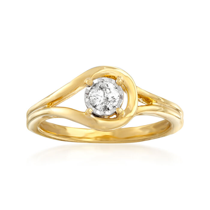 .25 Carat Diamond Loop Ring in 18kt Gold Over Sterling