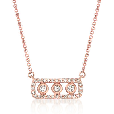 .26 ct. t.w. Diamond Frame Necklace in 14kt Rose Gold, , default
