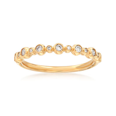 Henri Daussi .18 ct. t.w. Diamond Wedding Ring in 18kt Yellow Gold, , default