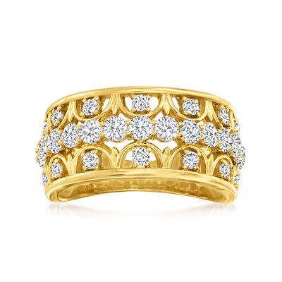 1.25 ct. t.w. Diamond Openwork Ring in 14kt Yellow Gold