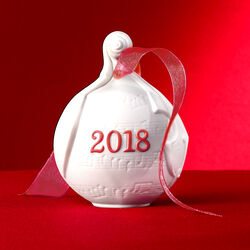 Lladro 2018 Annual Porcelain Ball Ornament - Red, , default