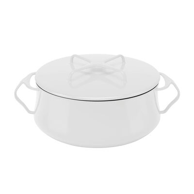 """Dansk """"Kobenstyle"""" White Casserole Pot with Lid, , default"""