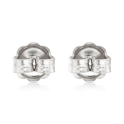 Italian 14kt White Gold Large 7mm Earring Backings