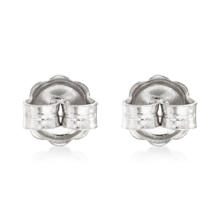 Italian 14kt White Gold Large 7mm Earring Backings