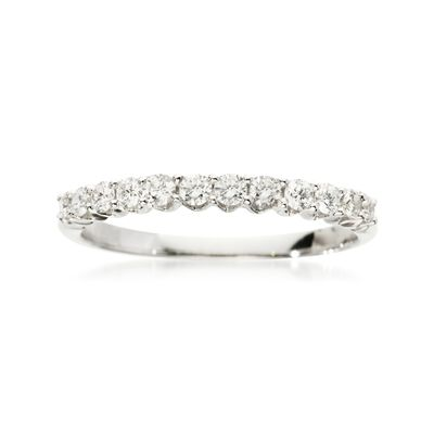 .35 ct. t.w. Diamond Wedding Ring in 18kt White Gold, , default