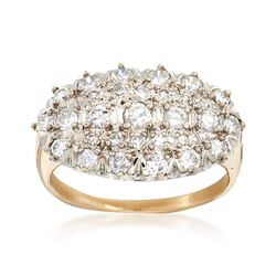 C. 1960 Vintage .75 ct. t.w. Diamond Cluster Ring in 14kt Yellow Gold. Size 5.5, , default
