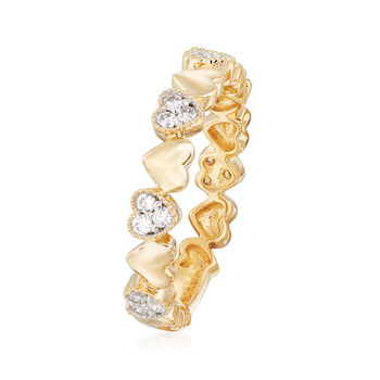 .26 ct. t.w. Diamond Heart Ring in 14kt Yellow Gold. Size 9, , default