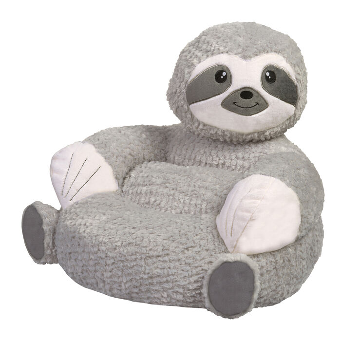 Children's Plush Sloth Chair, , default