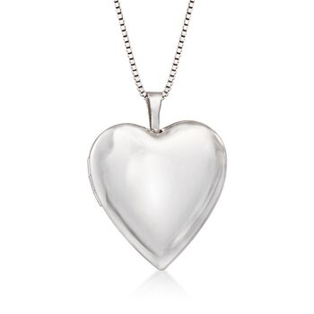 """Sterling Silver Mom & Me Jewelry Set: Two Heart Locket Necklaces. 14""""-18"""""""