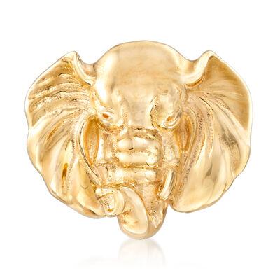 Italian 14kt Yellow Gold Elephant Pin, , default
