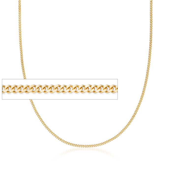 1.5mm 14kt Yellow Gold Gourmette Chain Necklace