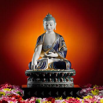 "Lladro ""Shakyamuni Buddha"" Golden Lustre Porcelain Figurine"
