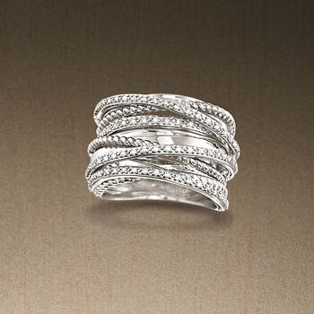 .25 ct. t.w. Diamond Highway Ring in Sterling Silver, , default