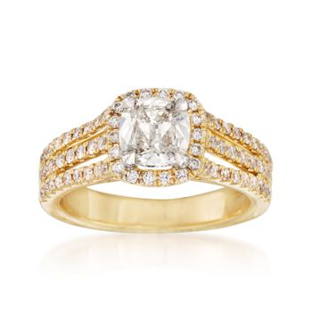 Henri Daussi 1.56 ct. t.w. Certified Diamond Engagement Ring in 18kt Yellow Gold, , default