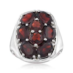 6.30 ct. t.w. Garnet Ring in Sterling Silver, , default