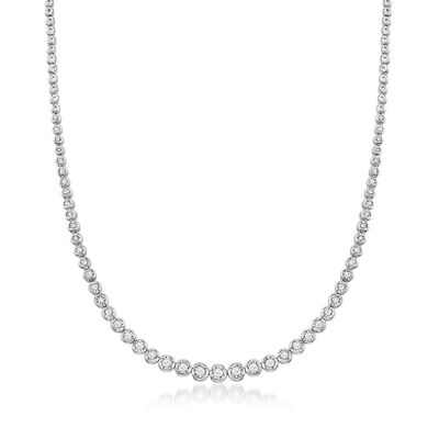 1.50 ct. t.w. Bezel-Set Diamond Necklace in Sterling Silver