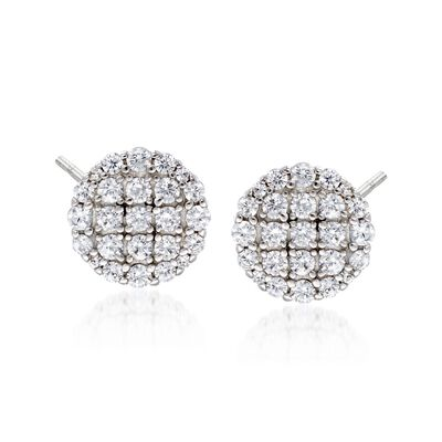 .34 ct. t.w. CZ Circle Earrings in Sterling Silver, , default