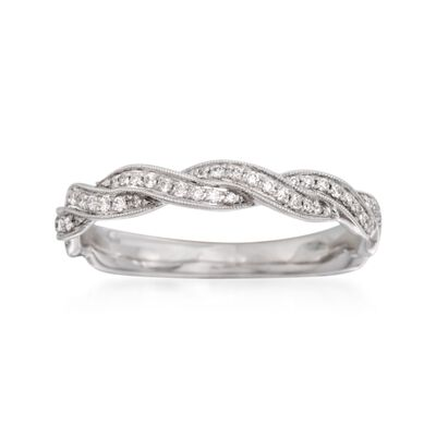 Simon G. .24 ct. t.w. Diamond Wedding Ring in 18kt White Gold