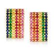 3.00 ct. t.w. Multi-Gemstone Earrings in 14kt Yellow Gold