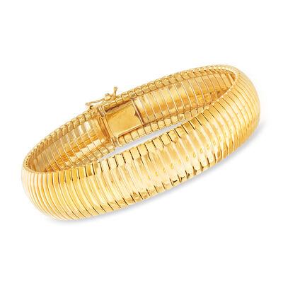 """Charles Garnier """"Cleopatra"""" 18kt Gold Over Sterling Bracelet"""