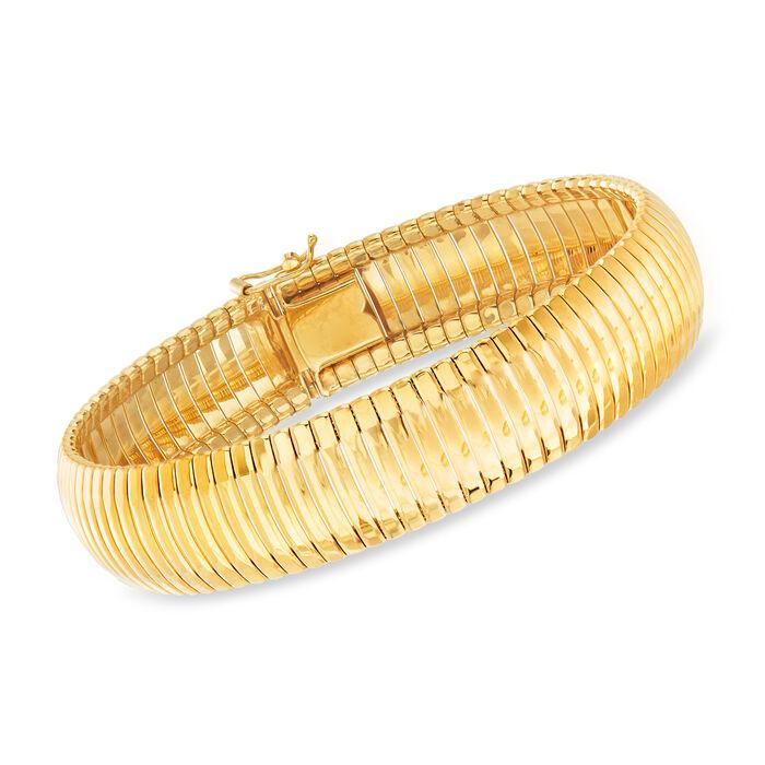"""Charles Garnier """"Cleopatra"""" 18kt Gold Over Sterling Bracelet. 7.5"""""""