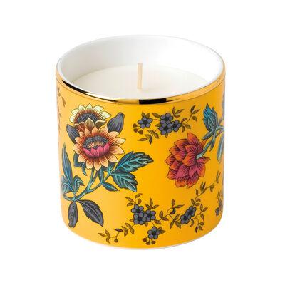 """Wedgwood """"Wonderlust"""" Yellow Tonquin Candle"""