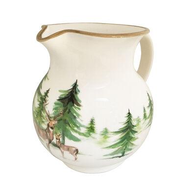 """Abbiamo Tutto Italian """"Woodlands"""" Ceramic Pitcher"""