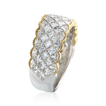 Simon G. 2.79 ct. t.w. Diamond Band Ring in 18kt Two-Tone Gold. Size 7