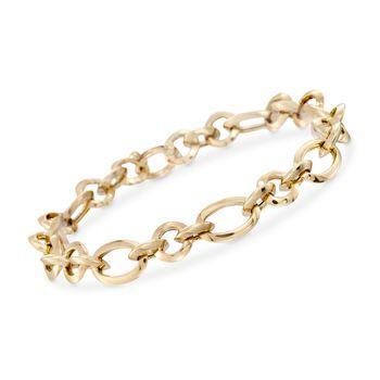 Italian 14kt Yellow Gold Classic Link Bracelet, , default